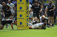 Billy Vunipola of Saracens scores a try during the Aviva Premiership Rugby Final between Exeter Chiefs and Saracens at Twickenham Stadium on Saturday 26th May 2018 (Photo by Rob Munro/Stewart Communications)