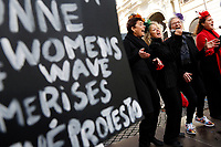 Women singing<br /> Rome January 19th 2019. Women&rsquo;s March Rome, march of solidarity for the civil rights and civil rights for women, organized by the American community of Rome, simultaneously with the women's march that take place worldwide on January 19th.<br /> Foto Samantha Zucchi Insidefoto