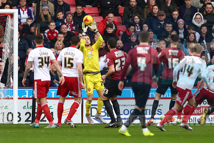 Sheffield United's George Long - Sheffield United vs Bradford City - Skybet League One - Bramall Lane - Sheffield - 28/12/2015 Pic Philip Oldham/SportImage