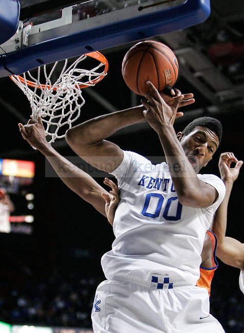 Kentucky forward Marcus Lee catches a rebound during the second half of the UK vs. UT-Arlington game at Rupp Arena on Tuesday, November 25, 2014 in Lexington, Ky. UK defeated UT-Arlington 92-44. Photo by Adam Pennavaria | Staff