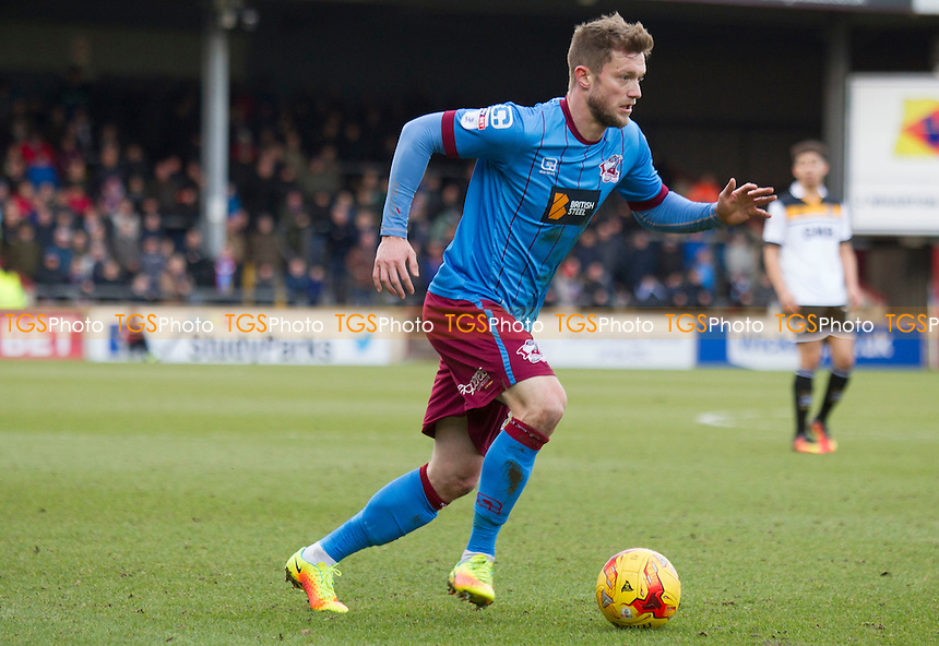 Scott Wiseman of Scunthorpe during Scunthorpe United vs Port Vale, Sky Bet EFL League 1 Football at Glanford Park on 28th January 2017