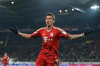 FUSSBALL   1. BUNDESLIGA  SAISON 2012/2013   19. Spieltag   VfB Stuttgart  - FC Bayern Muenchen      27.01.2013 JUBEL FC Bayern; Torschuetze zum 0-1 Mario Mandzukic