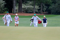 Kaitlyn Papp (USA) and Yuka Yasuda (JPN) during the final  round at the Augusta National Womans Amateur 2019, Augusta National, Augusta, Georgia, USA. 06/04/2019.<br /> Picture Fran Caffrey / Golffile.ie<br /> <br /> All photo usage must carry mandatory copyright credit (&copy; Golffile | Fran Caffrey)