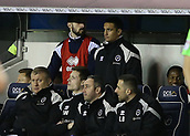 9th February 2018, The Den, London, England; EFL Championship football, Millwall versus Cardiff City; Tim Cahill of Millwall looks on from the bench during the 2nd half