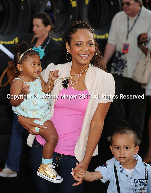 "HOLLYWOOD, CA -JUNE 18: Christina Milian attends the ""Cars 2"" Los Angeles Premiere at the El Capitan Theatre on June 18, 2011 in Hollywood, California."