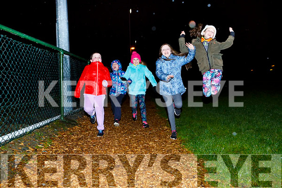 Keeping fit at the Glenflesk GAA Operation Transformation  on Monday night were front row l-r: Noreen Healy, Sarah Dineen, Abby Doherty, Maureen Healy and Abby Cronin