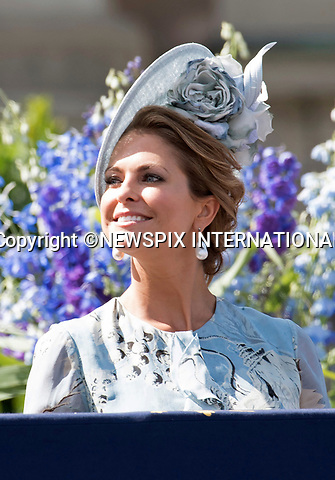 14.07.2017; Stockholm Sweden: KING CARL GUSTAF, PRINCESS MADELEINE AND CHRISTOPHER O'NEILL<br /> observe the carriage procession around the city of Stockholm on the occasion of Crown Princess Victoria&rsquo;s 40th Birthday, from the balocny of the royl Palace.<br /> King Carl Gustaf, Queen Silvia, Princess Madeleine, Christopher, Prince Carl Philip and Princess Sofia cheered the Crown Princess as the carriage passed the Royal Palace balcony.<br /> Mandatory Photo Credit: &copy;Francis Dias/NEWSPIX INTERNATIONAL<br /> <br /> IMMEDIATE CONFIRMATION OF USAGE REQUIRED:<br /> Newspix International, 31 Chinnery Hill, Bishop's Stortford, ENGLAND CM23 3PS<br /> Tel:+441279 324672  ; Fax: +441279656877<br /> Mobile:  07775681153<br /> e-mail: info@newspixinternational.co.uk<br /> Usage Implies Acceptance of Our Terms &amp; Conditions<br /> Please refer to usage terms. All Fees Payable To Newspix International