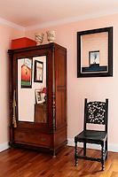 wooden wardrobe with mirror