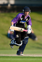 25 JUN 2009 - LOUGHBOROUGH,GBR - Alex Welsh - Loughborough UCCE (purple and black) v Cambridge UCCE (blue) - UCCE Twenty 20 (PHOTO (C) NIGEL FARROW)