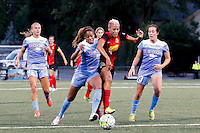 Rochester, NY - Friday July 01, 2016: Casey Short, Lianne Sanderson during a regular season National Women's Soccer League (NWSL) match between the Western New York Flash and the Chicago Red Stars at Rochester Rhinos Stadium.