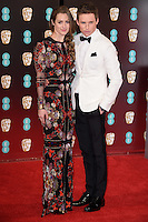 Hannah Bagshawe and Eddie Redmayne<br /> at the 2017 BAFTA Film Awards held at The Royal Albert Hall, London.<br /> <br /> <br /> &copy;Ash Knotek  D3225  12/02/2017
