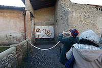 Domus  of Criptoportico  one of  Six ancient residences, or 'domus', at archaeological excavations of Pompeii  reopen to visitors  following restoration.<br /> <br /> Pompei  sei domus riaprono al pubblico dopo il restauro