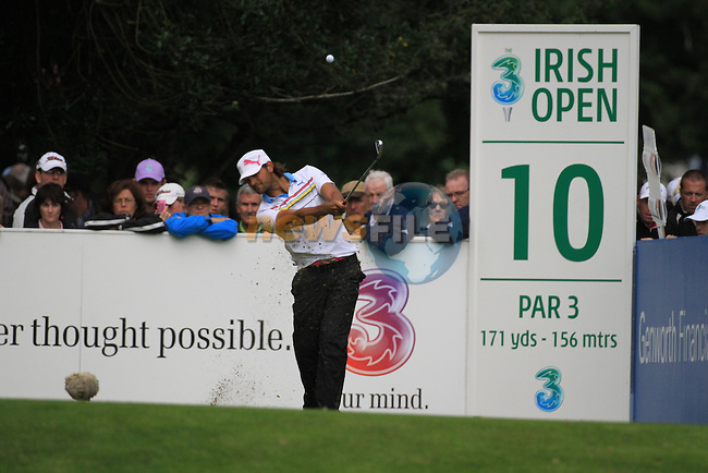 Johan Edfors teeing off on the 10th on day three of the 3 Irish Open, at the Killarney Golf and Fishing Club, Killarney, Ireland.Picture Fran Caffrey/www.golffile.ie.