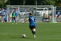 Kansas City, MO - Saturday May 13, 2017:  Becky Sauerbrunn during a regular season National Women's Soccer League (NWSL) match between FC Kansas City and the Portland Thorns FC at Children's Mercy Victory Field.