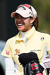 CHON BURI, THAILAND - FEBRUARY 18:  Pornanong Phatlum of Thailand smiles on the 16th tee during day two of the LPGA Thailand at Siam Country Club on February 18, 2011 in Chon Buri, Thailand. Photo by Victor Fraile / The Power of Sport Images