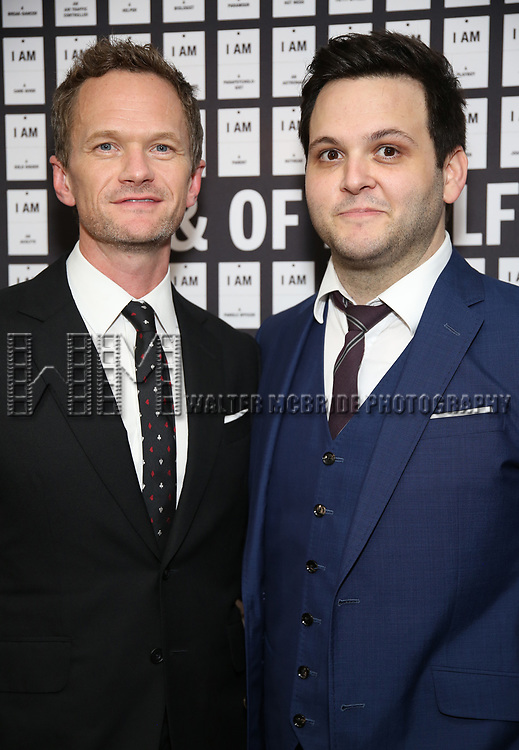 Neil Patrick Harris and Derek DelGaudio attend the Opening Night after party for 'In & Of Itself' at ACE Hotel on April 12, 2017 in New York City.