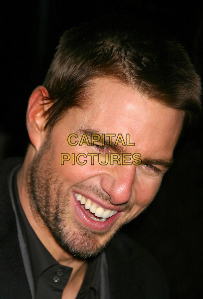 TOM CRUISE.The Last Samurai - New York Premiere .02/12/2003.portrait, headshot, beard, stubble, laughing.www.capitalpictures.com.sales@capitalpictures.com.©Capital Pictures.