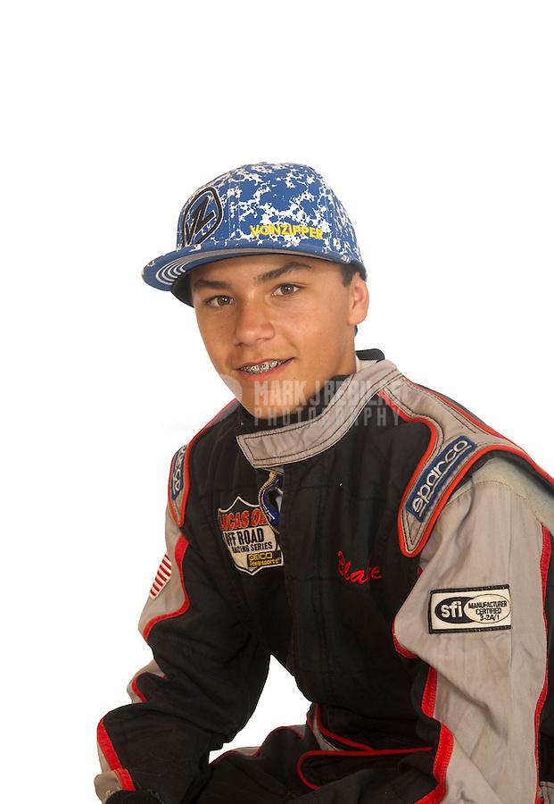 Mar. 18, 2011; Chandler, AZ, USA;  LOORRS driver Blake Lenk poses for a portrait at Firebird International Raceway. Mandatory Credit: Mark J. Rebilas