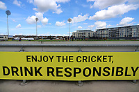 General view of the Enjoy The Cricket sign ahead of Gloucestershire vs Essex Eagles, NatWest T20 Blast Cricket at The Brightside Ground on 13th August 2017