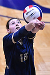 Althoff player Nicole Hampton bumps the ball. Althoff lost to Minooka in the championship game of the O'Fallon Class 4A volleyball sectional at O'Fallon HS in O'Fallon, IL on November 6, 2019.<br /> Tim Vizer/Special to STLhighschoolsports.com
