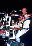 Les McCann, Sept 1976. Soul jazz piano player and vocalist whose biggest successes came as a crossover artist into R&B and soul. He became an innovator in the soul jazz style, merging jazz with funk, soul and world rhythms; much of his early 1970s music prefigures the great Stevie Wonder albums of the decade. He was among the first jazz musicians to include electric piano, clavinet, and synthesizer in his music.
