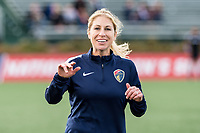 Boston, MA - Sunday May 07, 2017: McCall Zerboni prior to warmups before a regular season National Women's Soccer League (NWSL) match between the Boston Breakers and the North Carolina Courage at Jordan Field.
