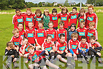 Children at the rugby Summer camp at Tralee Rugby club on Friday.