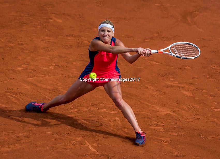 Paris, France, 4 June, 2017, Tennis, French Open, Roland Garros, Timea Bacsinszky (SUI)<br /> Photo: Henk Koster/tennisimages.com
