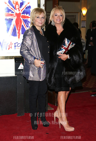 Jennifer Saunders and Judy Craymer arriving for VIVA Forever Spice Girls the Musical held at the Piccadilly Theatre. 11/12/2012 Picture by: Henry Harris / Featureflash