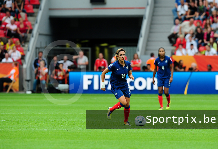 Fifa Women's World Cup Germany 2011 : England - France - at Leverkusen : Louisa Necib.foto DAVID CATRY / Vrouwenteam.be