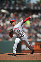 SAN FRANCISCO, CA - MAY 16:  Wandy Peralta #53 of the Cincinnati Reds pitches against the San Francisco Giants during the game at AT&T Park on Wednesday, May 16, 2018 in San Francisco, California. (Photo by Brad Mangin)