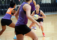 11.10.2017 Silver Ferns Samantha Sinclair in action during traning ahead of the final Constellation Cup netball match between the Silver Ferns and Australiain Sydney on Saturday. Mandatory Photo Credit ©Michael Bradley.