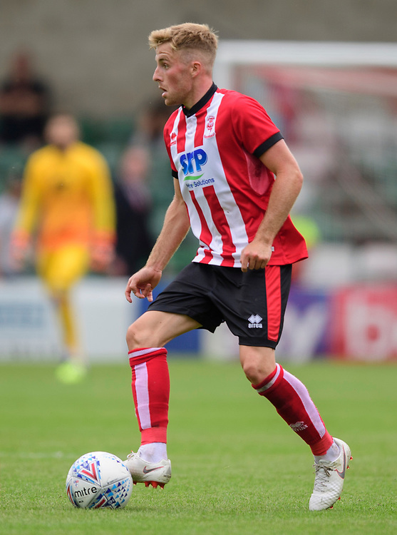 Lincoln City's Joe Morrell<br /> <br /> Photographer Chris Vaughan/CameraSport<br /> <br /> Football Pre-Season Friendly - Lincoln City v Sheffield Wednesday - Saturday July 13th 2019 - Sincil Bank - Lincoln<br /> <br /> World Copyright © 2019 CameraSport. All rights reserved. 43 Linden Ave. Countesthorpe. Leicester. England. LE8 5PG - Tel: +44 (0) 116 277 4147 - admin@camerasport.com - www.camerasport.com