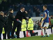 5th November 2017, Goodison Park, Liverpool, England; EPL Premier League Football, Everton versus Watford; Everton caretaker David Unsworth gives instructions to his skipper Phil Jagielka