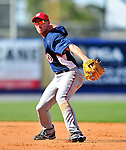 7 March 2010: Washington Nationals' infielder Pete Orr in action during a Spring Training game against the New York Mets at Tradition Field in Port St. Lucie, Florida. The Mets edged out the Nationals 6-5 in Grapefruit League pre-season play. Mandatory Credit: Ed Wolfstein Photo