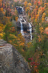Upper Whitewater Falls in autumn, Nantahala National Forest