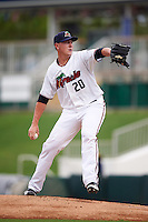 Fort Myers Miracle starting pitcher Keaton Steele (20) during a game against the St. Lucie Mets on August 9, 2016 at Hammond Stadium in Fort Myers, Florida.  St. Lucie defeated Fort Myers 1-0.  (Mike Janes/Four Seam Images)