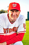 28 February 2010: Washington Nationals Spring Instructor Randy Knorr poses for his Spring Training photo at Space Coast Stadium in Viera, Florida. Mandatory Credit: Ed Wolfstein Photo