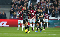 Dejection for Burnley<br /> <br /> Photographer Rob Newell/CameraSport<br /> <br /> The Premier League - West Ham United v Burnley - Saturday 3rd November 2018 - London Stadium - London<br /> <br /> World Copyright &copy; 2018 CameraSport. All rights reserved. 43 Linden Ave. Countesthorpe. Leicester. England. LE8 5PG - Tel: +44 (0) 116 277 4147 - admin@camerasport.com - www.camerasport.com
