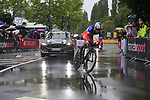 French National Champion Pierre Roger Latour (FRA) FDJ in action during Stage 1, a 14km individual time trial around Dusseldorf, of the 104th edition of the Tour de France 2017, Dusseldorf, Germany. 1st July 2017.<br /> Picture: Eoin Clarke | Cyclefile<br /> <br /> <br /> All photos usage must carry mandatory copyright credit (&copy; Cyclefile | Eoin Clarke)
