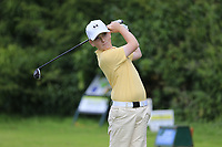 Zach Argue (Beaverstown) during the Connacht U14 Boys Amateur Open, Ballinasloe Golf Club, Ballinasloe, Galway,  Ireland. 10/07/2019<br /> Picture: Golffile | Fran Caffrey<br /> <br /> <br /> All photo usage must carry mandatory copyright credit (© Golffile | Fran Caffrey)