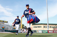 20 September 2012: Florian Peyrichou and Boris Marche arrive on the field prior to Spain 8-0 win over France, at the 2012 World Baseball Classic Qualifier round, in Jupiter, Florida, USA.