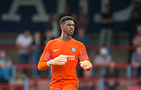 Bolton Wanderers transfer target Goalkeeper Jamal Blackman of Chelsea U23 during the pre season friendly match between Aldershot Town and Chelsea U23 at the EBB Stadium, Aldershot, England on 19 July 2017. Photo by Andy Rowland / PRiME Media Images.