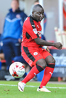 Aliu Djalo of Crawley Town (24)  during the Sky Bet League 2 match between Crawley Town and Accrington Stanley at Broadfield Stadium, Crawley, England on 22 October 2016. Photo by Edward Thomas / PRiME Media Images.