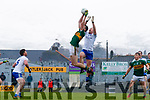 Gavin O'Brien  Kerry in action against Vincent Corey Monaghan during the Allianz Football League Division 1 Round 5 match between Kerry and Monaghan at Fitzgerald Stadium in Killarney, on Sunday.