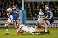 6th March 2020; AJ Bell Stadium, Salford, Lancashire, England; Premiership Rugby, Sale Sharks versus London Irish; Denny Solomona of Sale Sharks is tackled