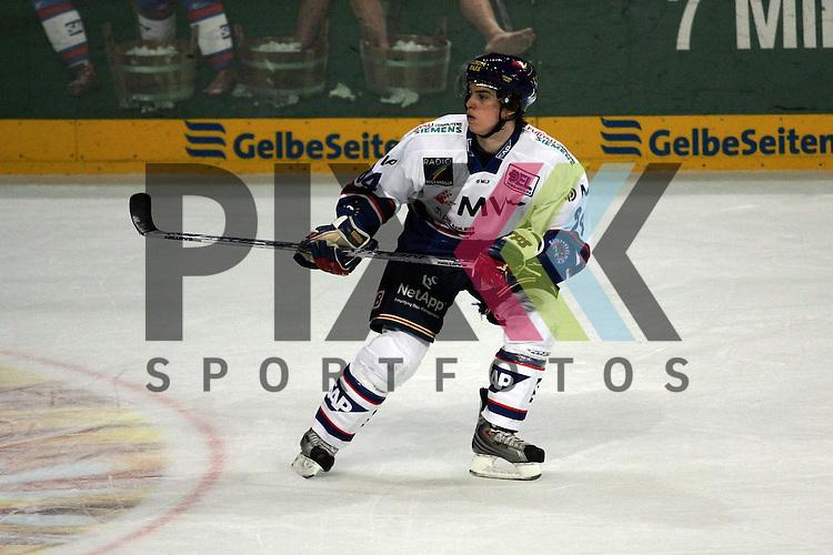 Mannheim 09.03.2008, Deutsche Eishockey Liga, Adler Mannheim - Krefeld Pinguine, Benedikt Kohl (Mannheim)<br /> <br /> Foto &copy; Rhein-Neckar-Picture *** Foto ist honorarpflichtig! *** Auf Anfrage in hoeherer Qualitaet/Aufloesung. Belegexemplar erbeten. Veroeffentlichung ausschliesslich fuer journalistisch-publizistische Zwecke. For editorial use only.
