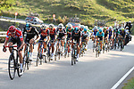 The peloton including race leader Chris Froome (GBR) Team Sky during Stage 19 of the 2017 La Vuelta, running 149.7km from Caso. Parque Natural de Redes to Gij&oacute;n, Spain. 8th September 2017.<br /> Picture: Unipublic/&copy;photogomezsport | Cyclefile<br /> <br /> <br /> All photos usage must carry mandatory copyright credit (&copy; Cyclefile | Unipublic/&copy;photogomezsport)