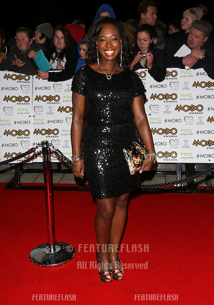 Yolanda Brown arriving for The MOBO awards 2012 held at the Echo Arena, Liverpool. 03/11/2012 Picture by: Henry Harris / Featureflash