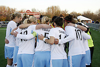Chicago Red Stars pre kick off..Saint Louis Athletica were defeated 1-0 by Chicago Red Stars .